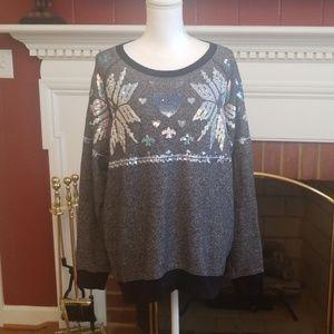 Victoria's Secret PINK Bling sequin sweatshirt M